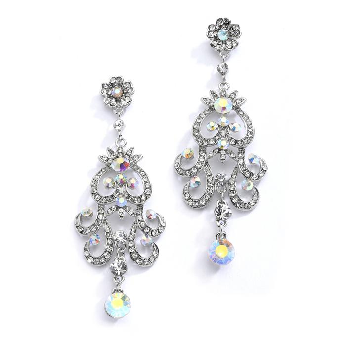 Ab Vintage Chandelier Earrings